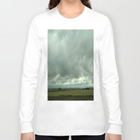 spain Long Sleeve T-shirts featuring Spain Countryside by Rosie Brown