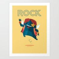 :::Rock Monster::: Art Print