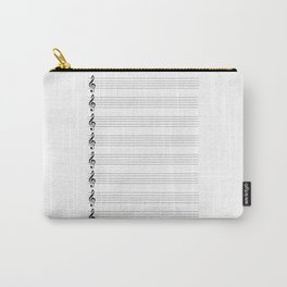 Treble Clef Staves Carry-All Pouch