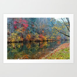 Fall Reflection, Falls Mills, West Virginia Art Print