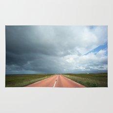 red roads ahead Rug