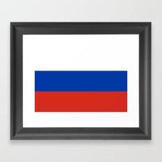 Flag of Russia Framed Art Print