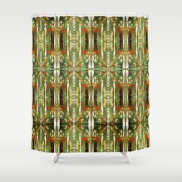 Out there in the woods, I feel peace........ Shower Curtain