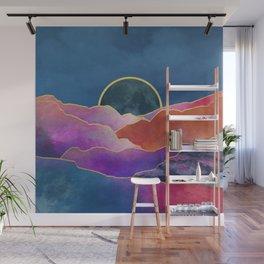 Rainbow mountains & gold Wall Mural