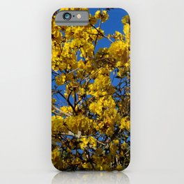 Yellow Tree Fever iPhone Case