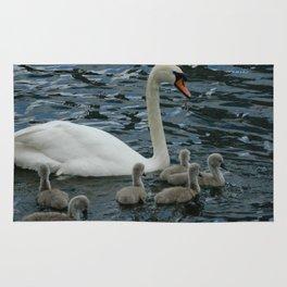 Mute Swan & Cygnets Rug