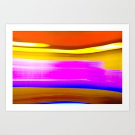 Abstrat colors Art Print
