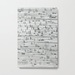 Harbour #2-minimalist, decorative line Drawing Metal Print