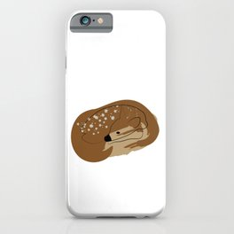 Line deer with paint brush spot iPhone Case