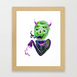 demoniooOOoOOoOooo #3 Framed Art Print