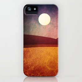 Moon Over The Desert  iPhone Case