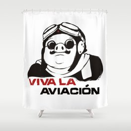 Viva la aviacion Shower Curtain