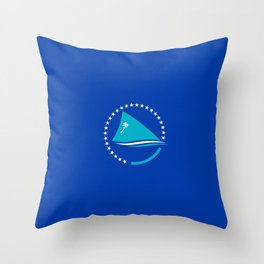 flag of Pacific Community or SPC Throw Pillow