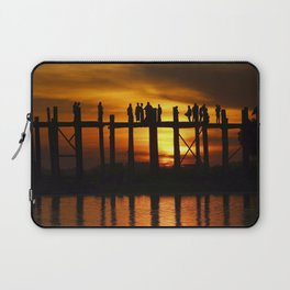 Sunset at U Bein Bridge, Myanmar Laptop Sleeve
