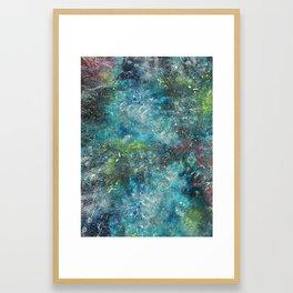A galactic ocean - Painting Framed Art Print