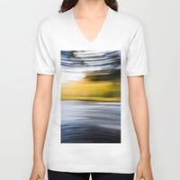 blur V-neck T-shirts featuring Blur by Ben Howell