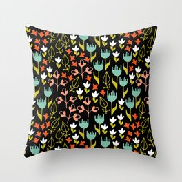 Colette - Black Throw Pillow