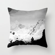 Snowy Isolation Throw Pillow