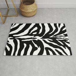 Black and white Zebra Stripes Design Rug