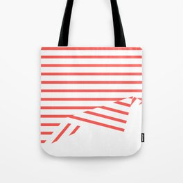 Line Fold Tote Bag