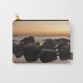Rocky Ocean Sunrise Carry-All Pouch