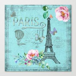 Paris - my blue love Canvas Print