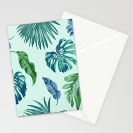Palm Trees & Leaves Pattern Stationery Cards