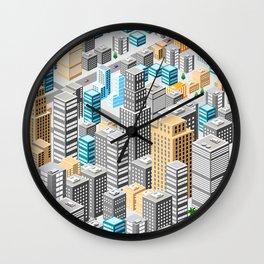 Isometric city Wall Clock