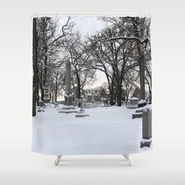 Haunted Winter II Shower Curtain
