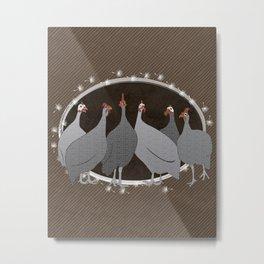 Helmeted Guineafowl Metal Print