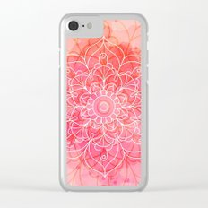 Pink Watercolor Mandala #lifestyle #society6 Clear iPhone Case