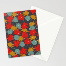 Falling red leaves Stationery Cards