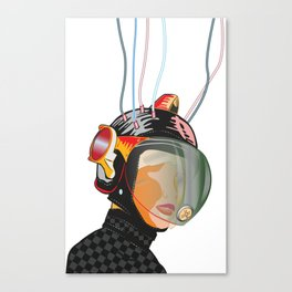Space Lady 6.3_Blk_NBG Canvas Print