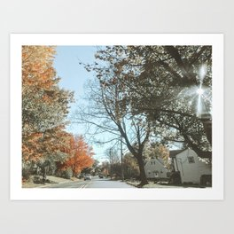 Autumn Drive Art Print