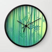 serenity Wall Clocks featuring Serenity by Natalia Linn