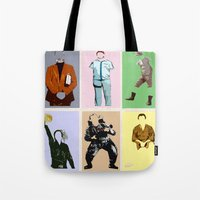 bill Tote Bags featuring Mr Bill by T.E.Perry
