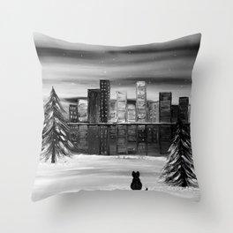 November b&w Throw Pillow