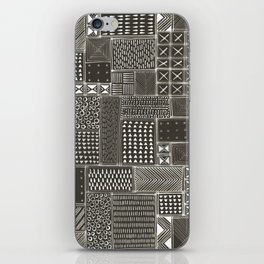 African Brown Tribal Mud Cloth iPhone Skin