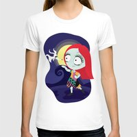 nightmare before christmas T-shirts featuring Sally from Nightmare before Christmas  by Piccolinart