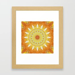 Mandala find your way Framed Art Print