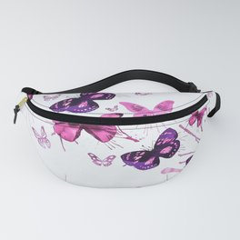 Beautiful Pink and Purple Butterflies Fanny Pack