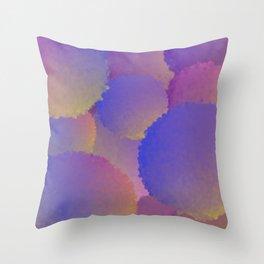 Purple Nuclear Fusion Throw Pillow