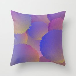 Purple Nuclear Fusion Throw Pillow