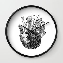 Nepenthes kokedama Wall Clock