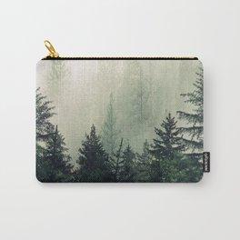 Foggy Pine Trees Tasche