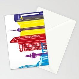 Jeddah skyline pop Stationery Cards