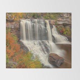 Blackwater Autumn Falls Throw Blanket