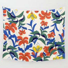 Vintage Floral Pattern Wall Tapestry