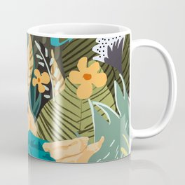How To Live In The Jungle #illustration #painting Coffee Mug