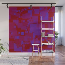 blue on red Wall Mural